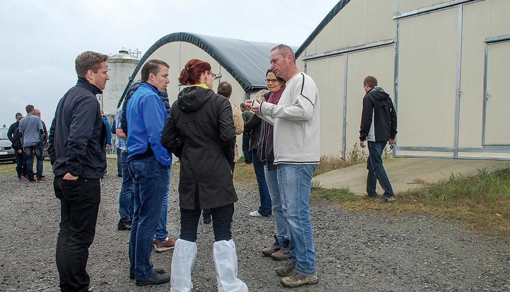 Photo of Des conseillers agricoles danois en visite en Bretagne