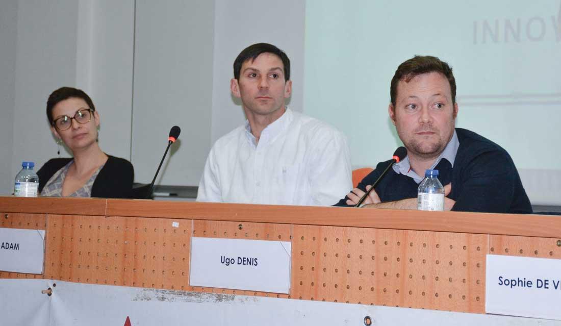 De gauche à droite : Isabelle Dona (Link-Up), Loïc Adam (président de l'OP Mont-Blanc) et Ugo Denis (Chambre d'agriculture 50).
