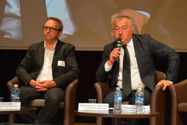 Thierry Le Druillennec, trésorier du GDS Bretagne et Jean-François Tréguer, président.