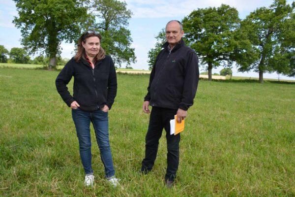 La réduction des intrants est une orientation forte sur l'élevage de Brigitte et Philippe Lehuger.