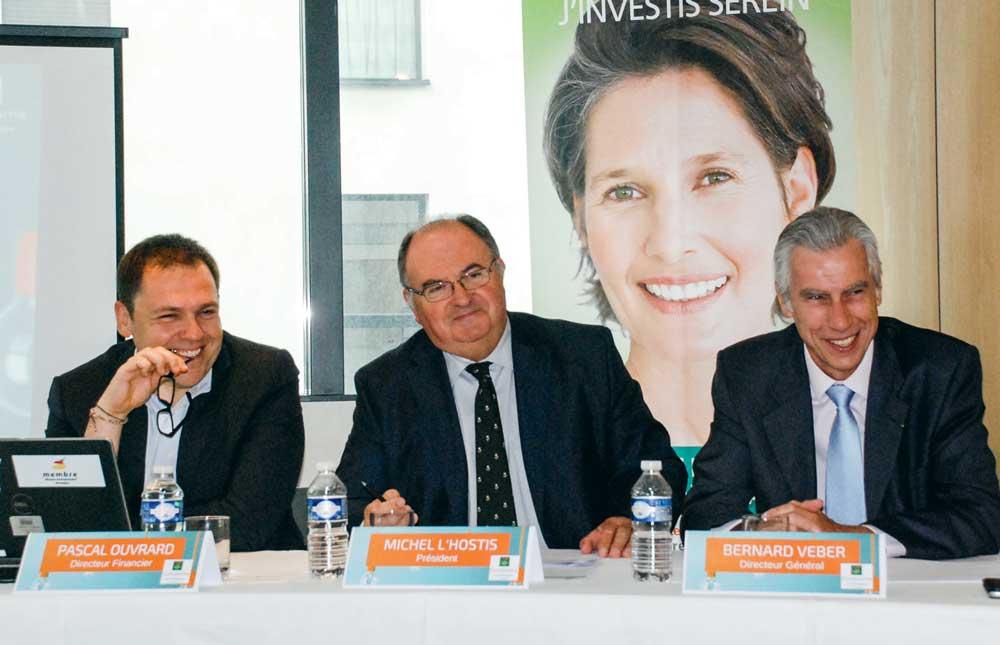 De gauche à droite : Pascal Ouvrard, directeur financier ; Michel L'Hostis, président ; Bernard Veber, directeur général.