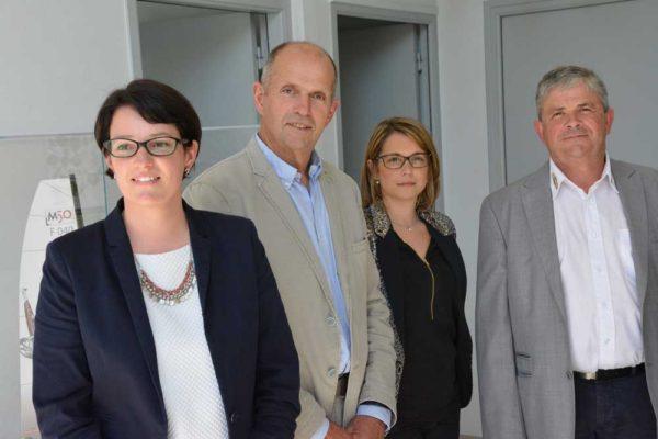 De gauche à droite : Maïwenn Bullier, Yvon Auffret, Marie Dérédec et Joseph Rousseau.