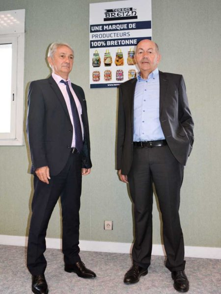Jean-Charles Oisel, directeur  de la coopérative Le Gouessant et Patrick Fairier, président.