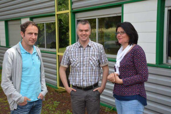 De gauche à droite: Arnaud Guérin, directeur France, Pierre-Yves Lannuzel, ingénieur recherche et Stéphanie Guyot, responsable marketing.