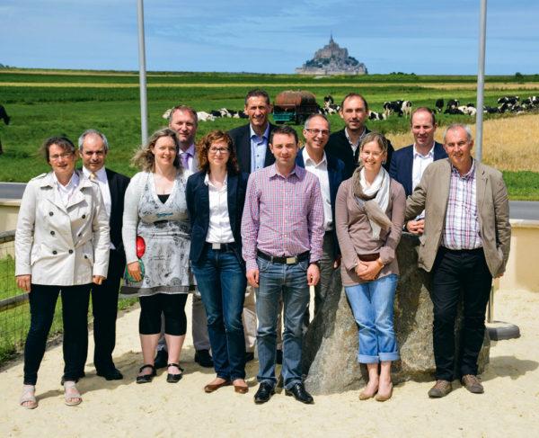 Les différents partenaires du projet Génosanté étaient réunis mardi 5 juillet près du Mont-Saint-Michel.