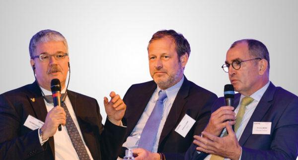 De gauche à droite : Jörg Altemeier (Tonnies), Francis Kint (Vion) et thierry Meyer (Bigard).