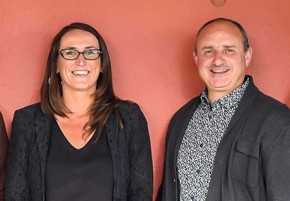 Julie Jacq et Hervé Conan de l'AEF 22.