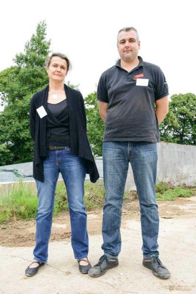 Delphine Macé et son frère Jean-Jacques Michard, éleveurs à Rohan.
