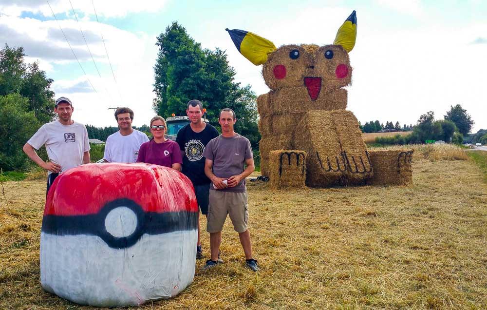 Photo of Pokémon : un Pikachu de paille au Pays de Loudéac