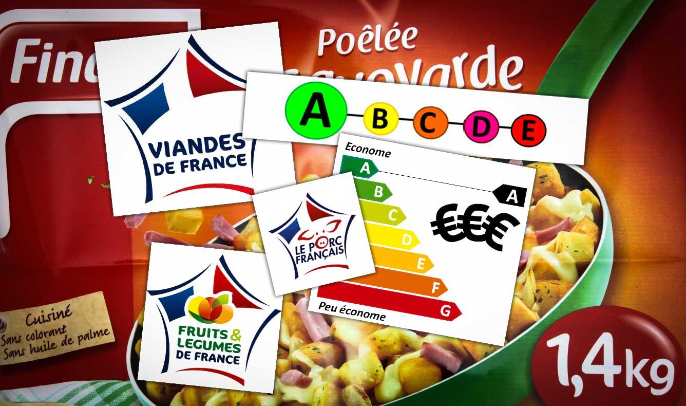 Photo of Plats préparés : logos et drapeaux tricolores entretiennent la confusion