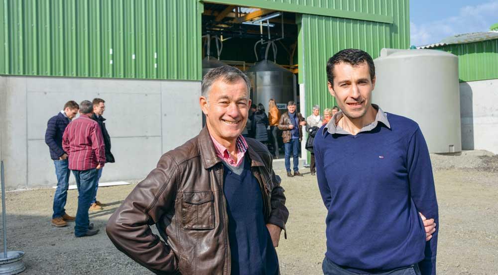 Jean-Jacques et Romain Riou, de la SCEA du même nom.