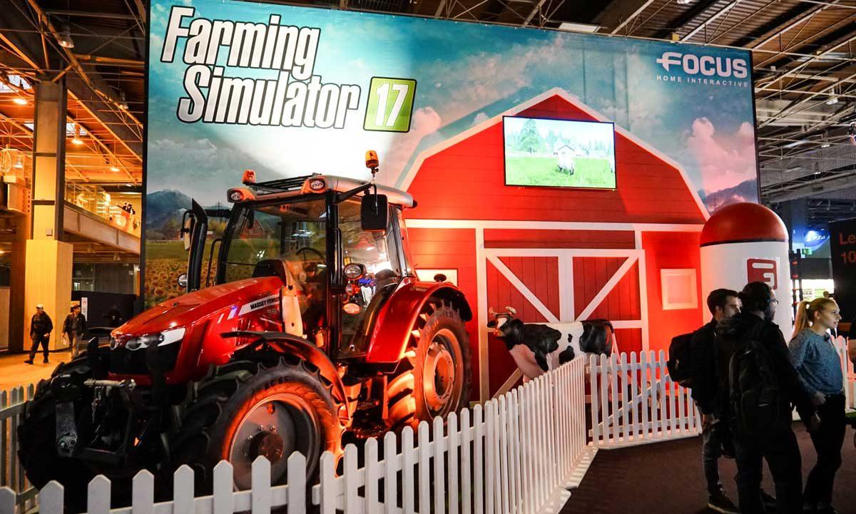 Farming Simulator 17 Un Ovni Au Paris Games Week