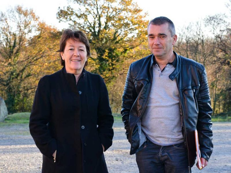 Catherine Laillé, éleveuse et secrétaire générale de la Coordination rurale nationale, et Pascal Aubry, éleveur et président de l'Onep.
