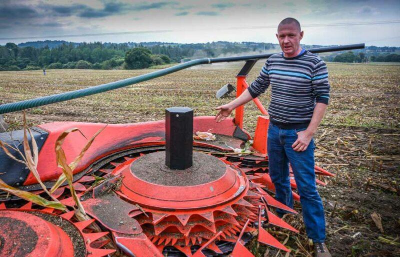 « La récolte sur maïs versé est facilitée », selon Yann Le Clec'h.