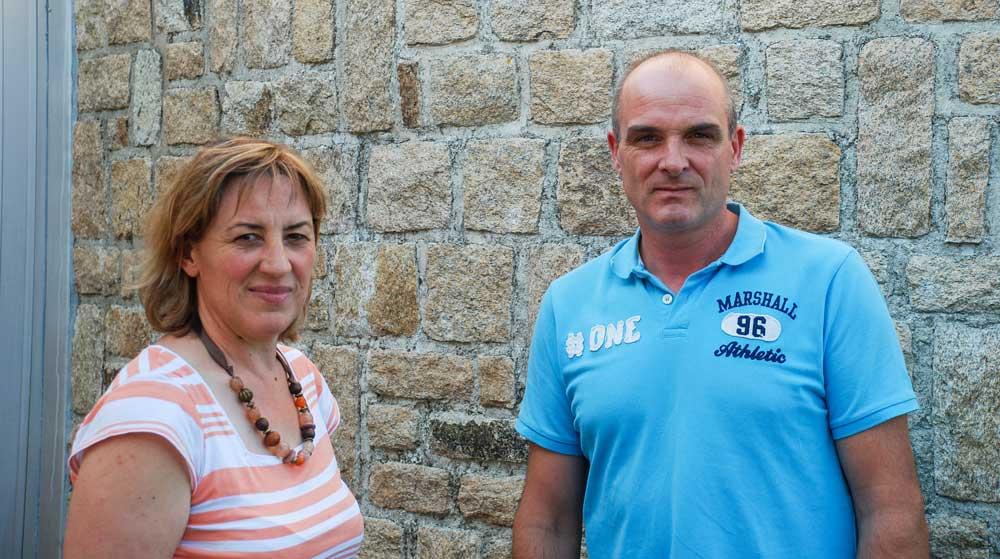 Marie-Andrée Le Luherne et Frank Guéhennec, de la FDSEA 56
