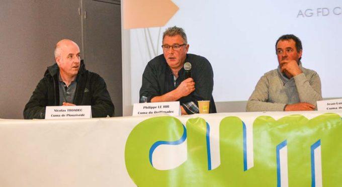 De gauche à droite : Olivier Deniel, Philippe Le Hir et Jean-Luc Tanguy ont fait part de leur expérience lors de cette assemblée.