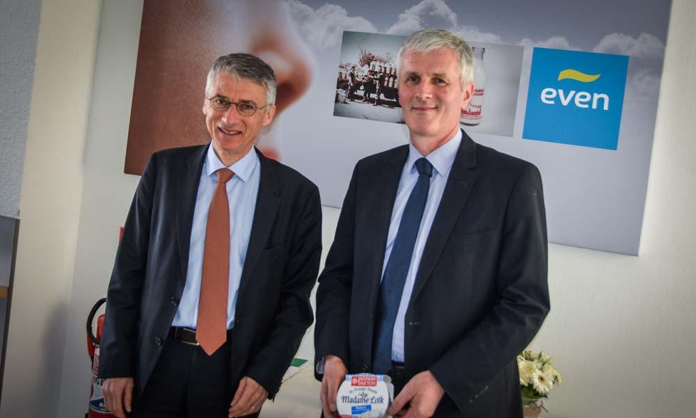 Christian Couilleau, directeur, aux côtés de Guy Le Bars, président.