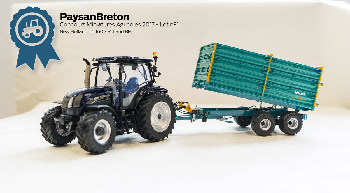 Concours miniatures : New Holland T6 160 et Rolland BH100 ...
