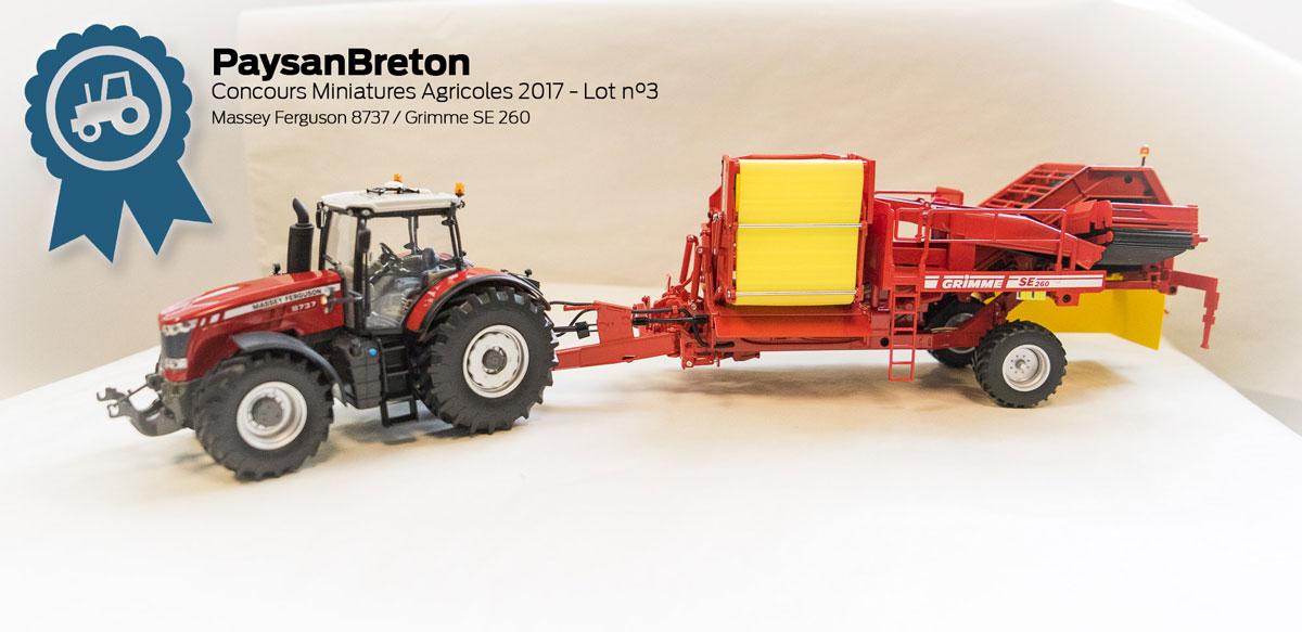 Photo of Concours miniatures : Massey Ferguson 8737 et Grimme SE 260