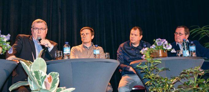 Jakez Bernard, ex-président de Produit en Bretagne ; Pierre-Henry Hamon, gérant d'une ETA ; Sébastien Balusson, codirigeant d'Olmix ; Jacques Le Verger, responsable de la société Osmobio.
