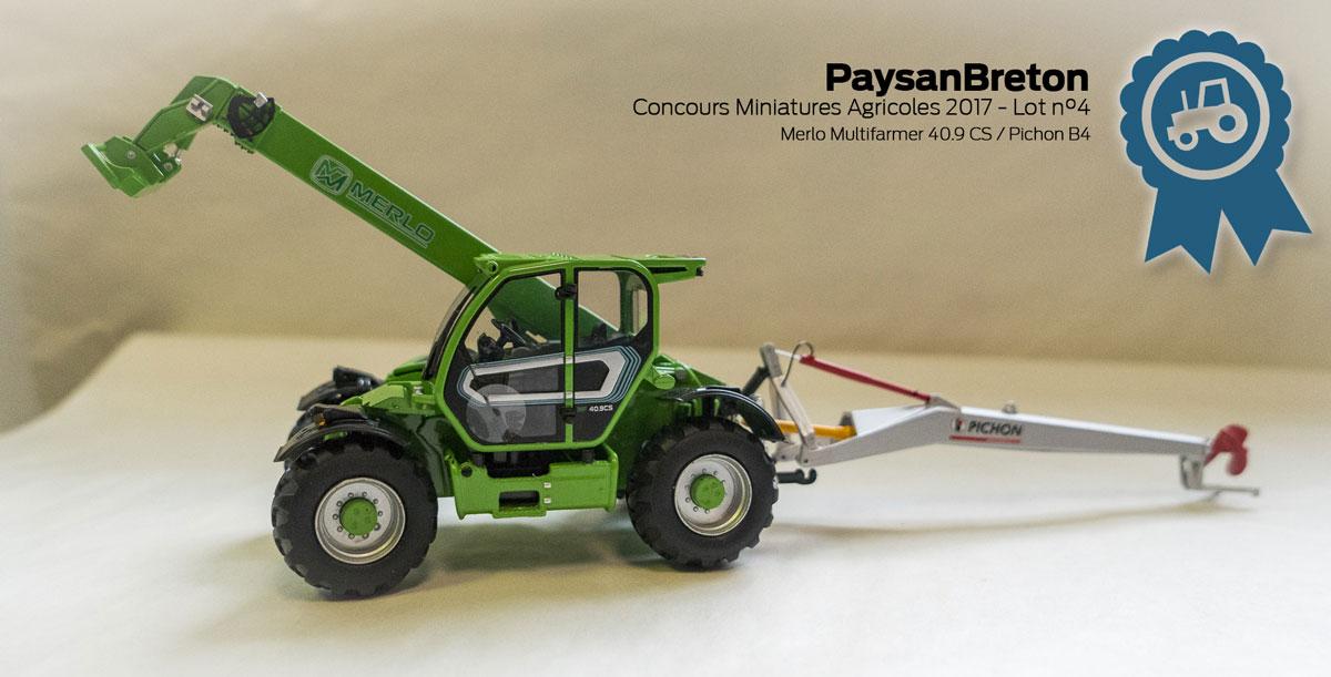 Photo of Concours miniatures : Merlo MultiFarmer 40.9CS et Broyeur Pichon B4
