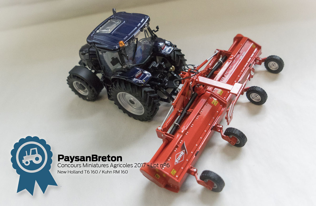 Photo of Concours miniatures : New Holland T6 160 et Kuhn RM 610