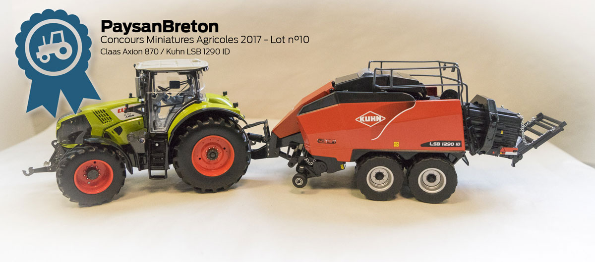 Photo of Concours miniatures : Claas Axion 870 et Kuhn LSB 1290 iD