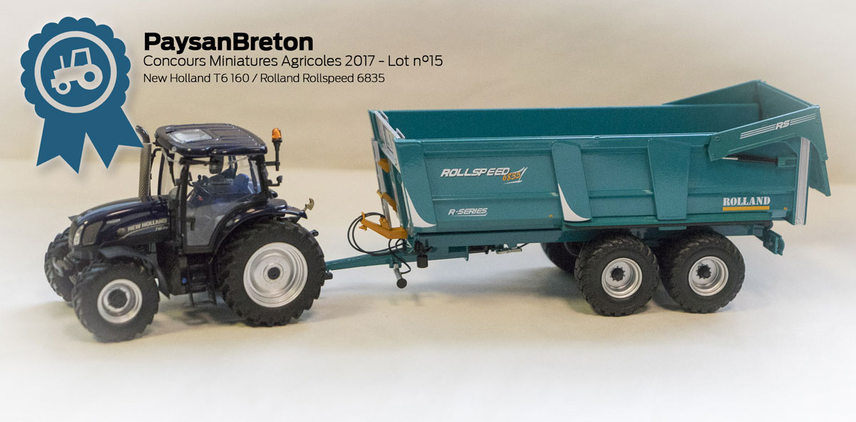 Photo of Concours miniatures : New Holland T6 160 et Rolland RollSpeed 6835