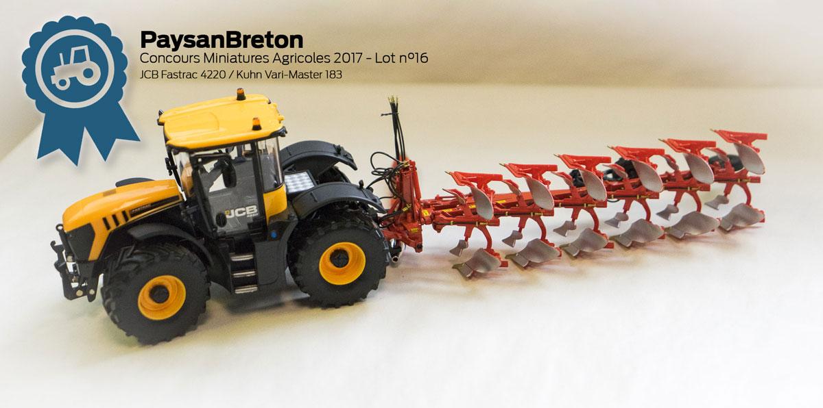 Photo of Concours miniatures : JCB Fastrac 4220 et Kuhn Vari-Master 183