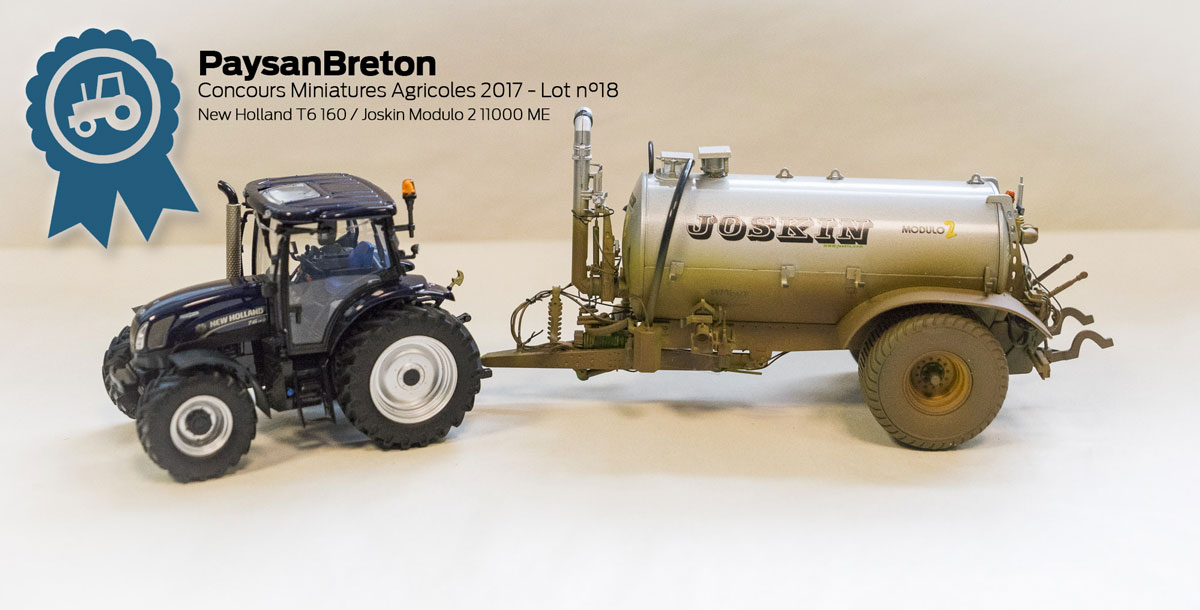 Photo of Concours miniatures : New Holland T6 et Joskin Modulo 2