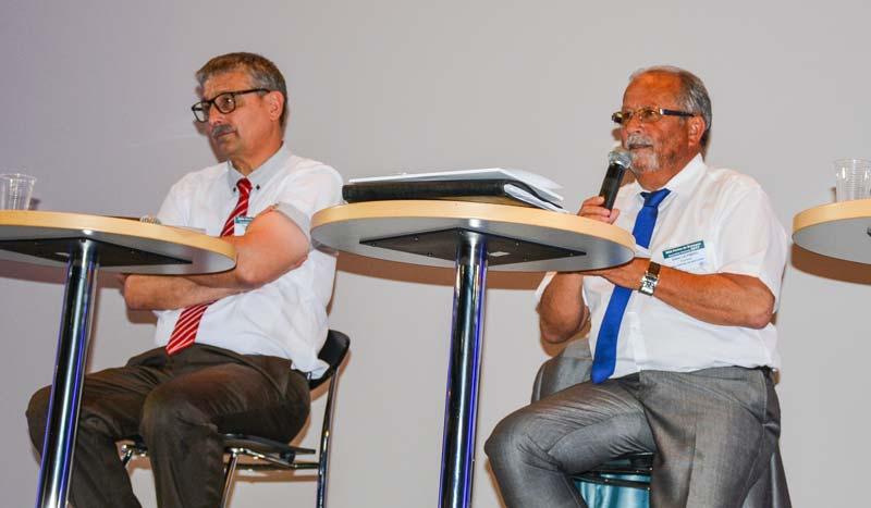 Pascal Cormery, président de la Caisse centrale de MSA (à gauche), et Didier Le Pimpec, président de la MSA Portes de Bretagne.