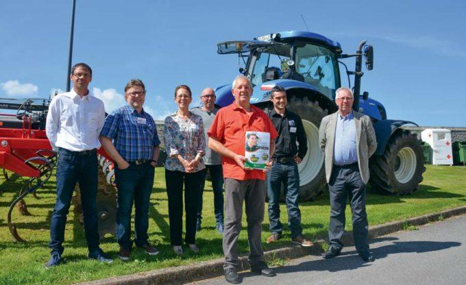 Une partie de l'équipe organisatrice, pour qui l'enjeu de la main-d'œuvre agricole est capital.