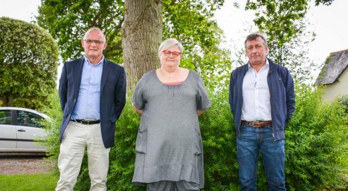 De gauche à droite : François Pot, président de Porélia ; Rachel Richard, directrice ; Philippe Bourhis, vice-président