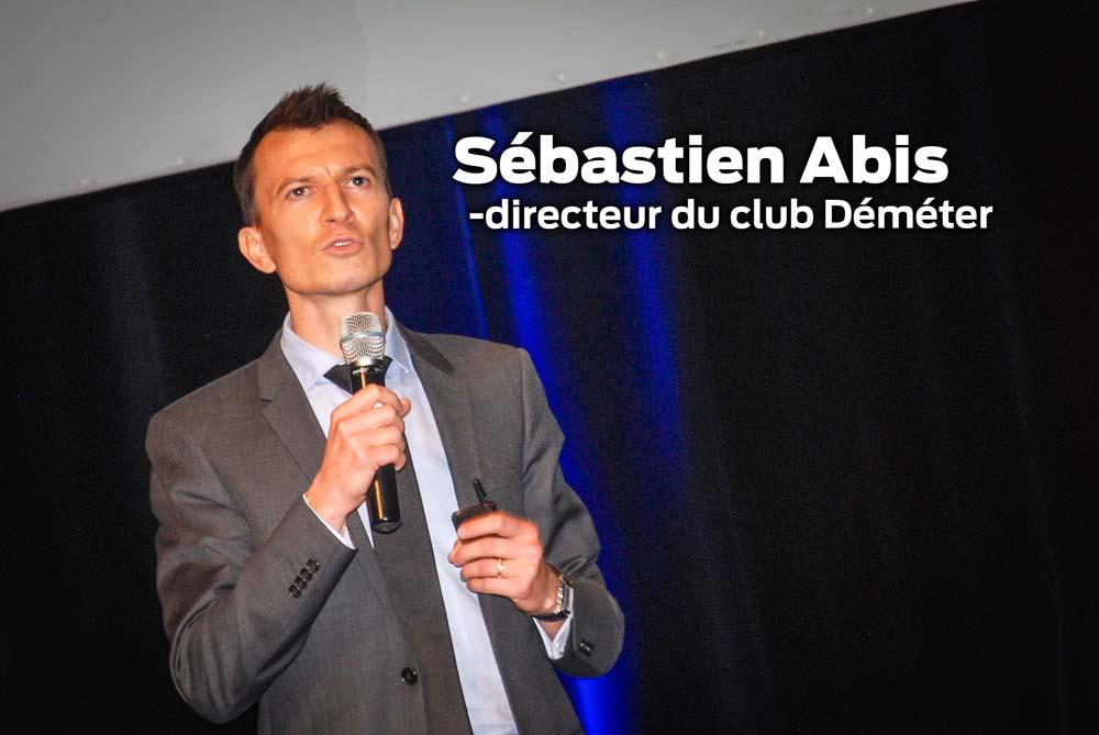 Sébastien Abis, directeur du club Déméter, est intervenu lors de l'assemblée générale de Triskalia, à Carhaix (29).