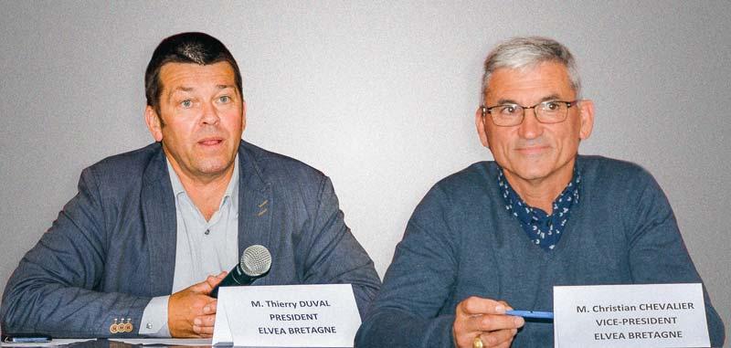 Thierry Duval, président d'Elvea Bretagne, et Christian Chevalier, vice-président.