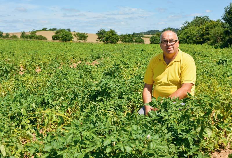 Bertrand Tanguy est l'un des organisateurs de la journée. La culture de la pomme de terre est fortement ancrée dans le territoire breton.
