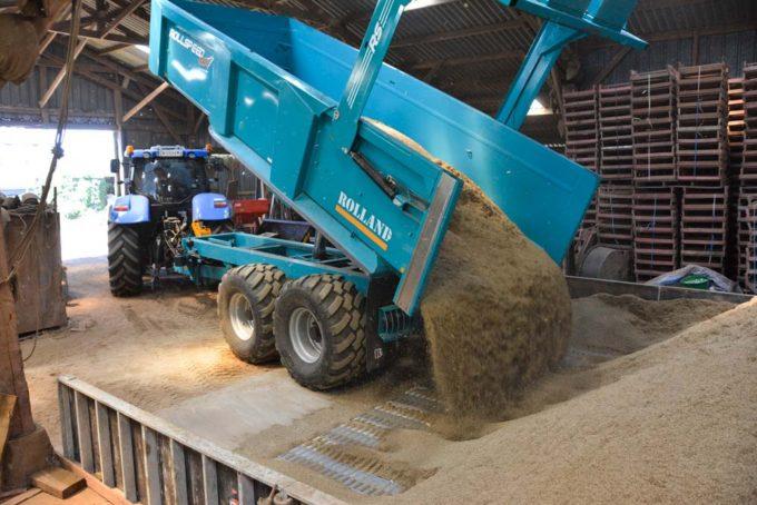 Le séchoir, de fabrication maison, peut recueillir les 16 ha de culture  de ray-grass hybride de l'exploitation. Il peut être démonté pour laisser de la place au stockage de pomme de terre.