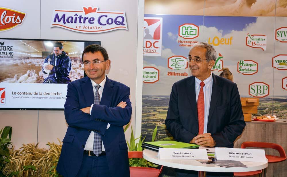 Denis Lambert, P.-D.G. du groupe LDC et Gilles Huttepain, directeur LDC amont.