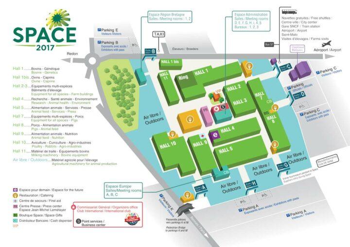 plan du space 2017
