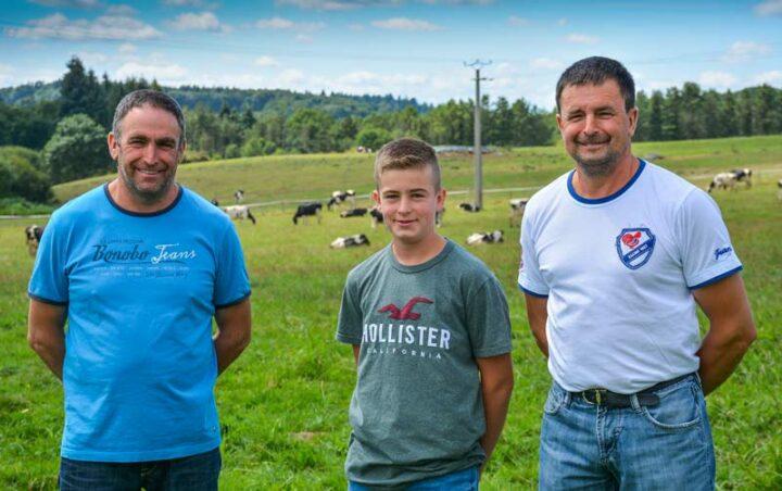 De gauche à droite: Jean-Paul, Alex et Alain Tastard.