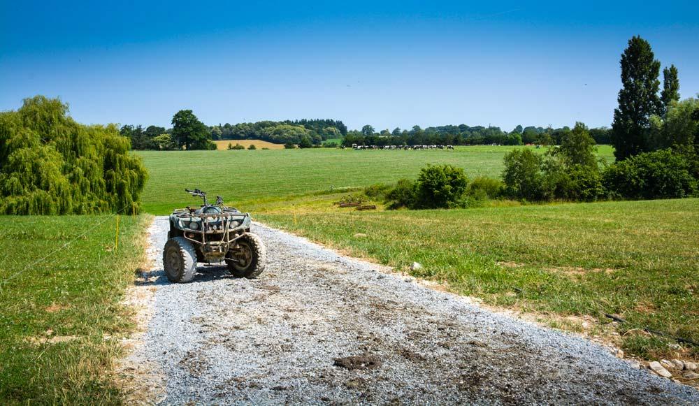 Peu à peu, les chemins sont positionnés et testés par les producteurs.