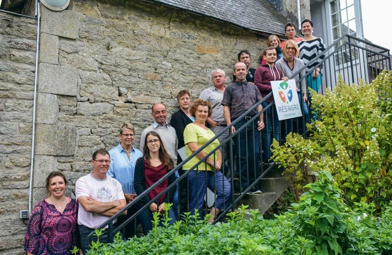 Les responsables de Rés'agri présentaient le bilan des visites estivales, la semaine dernière à Kerguéhénnec.