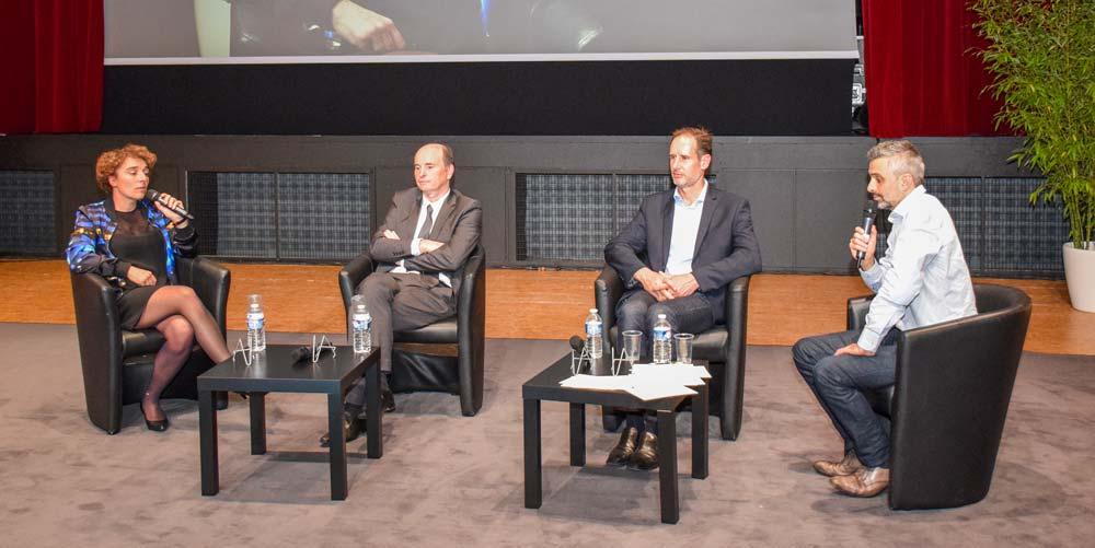 Clémentine Gallet (Coriolis Composites), Michel Boulaire (Jean Floc'h) et Christophe Nicéron (La Bien Nommée et Carabreizh) ont témoigné de leur parcours de chef d'entreprise. Avec un enthousiasme communicatif.