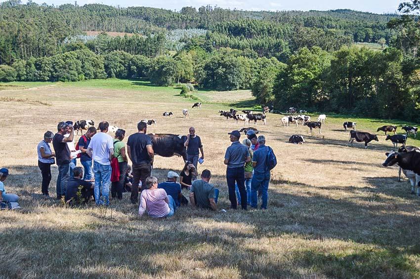 Le groupe a visité huit fermes majoritairement herbagères.