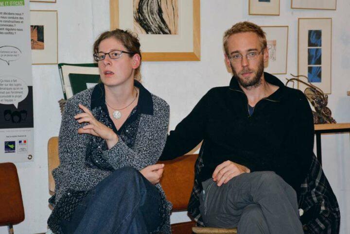 Tamara Glas et Pierre Gabeau, de la Ferme des 5 sens à Guipry.