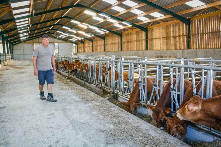 Jean-François Poutrel a récemment investi dans une stabulation neuve de 1 500 m2 où va loger l'ensemble des animaux. Le bâtiment a été mis en service en janvier dernier.