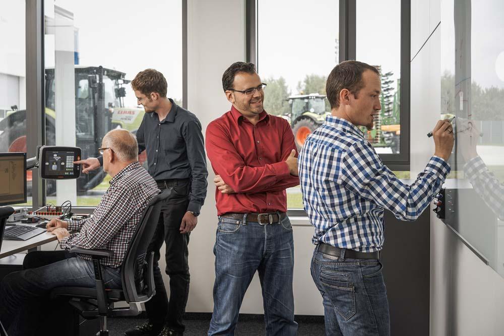 Plus de 170développeurs de logiciel, ingénieurs et autres spécialistes de CLAAS E-Systems travaillent à Dissen sur des solutions d'avenir.