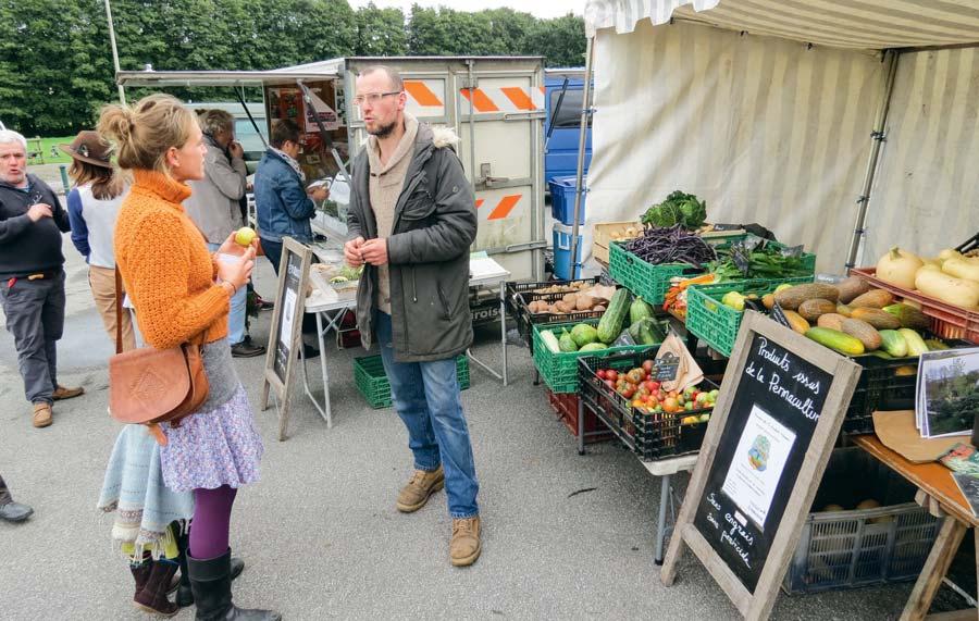 Les visiteurs ont pu apprécier la qualité des productions maraîchères, mais aussi des fromages et autre produits locaux.