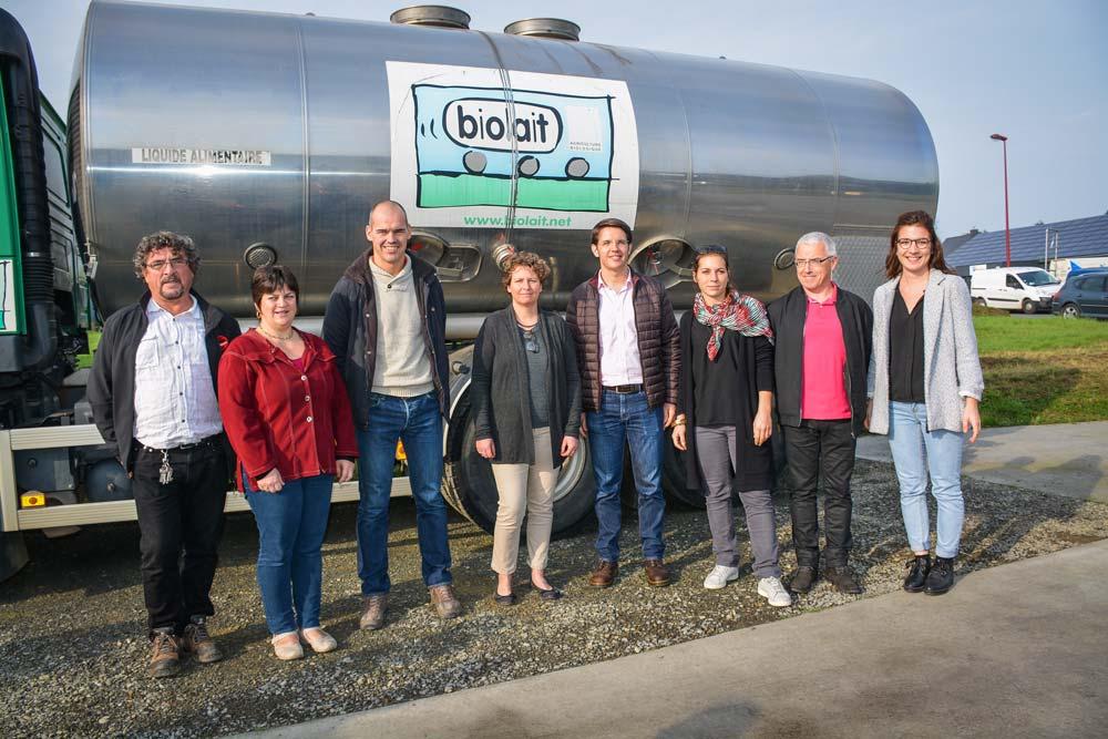 Les producteurs et salariés de Biolait ont inauguré mardi dernier leur nouveau relais en Ille-et-Vilaine. Chaque département breton en compte un désormais.