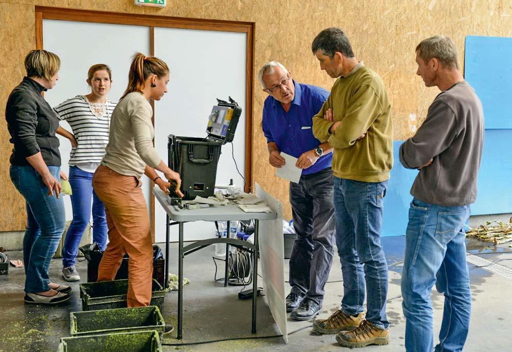 Tout au long du mois de septembre, les équipes de BCEL Ouest ont mesuré les teneurs en matière sèche d'échantillons apportés par les agriculteurs.